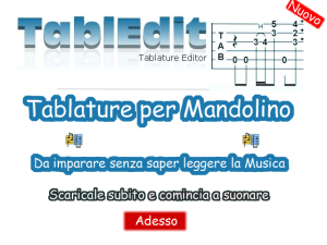 Tablature Per Mandolino